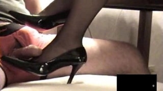 Black-RHT-Stocking-Footjob-with-Cumshot
