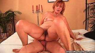 Plump-grandma-fucks-her-toy-boy's-cock-with-her-unshaven-pussy