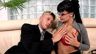 Horny-secretary-fucked-on-a-couch-in-lingerie
