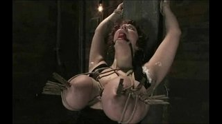 New-girl-gets-her-GIANT-NATURAL-TITS-tied-up-and-shocked