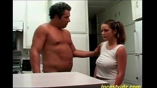 Bad-daddy-fucks-his-hot-busty-daughter-in-kitchen