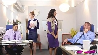 Gigi-and-Katalina-give-good-massage-on-their-boss