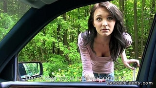 Amateur-teen-fucking-pov-outdoor-by-the-road