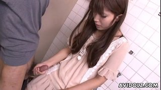 Asian-teen-jerking-on-the-strangers-cock-in-bathroom