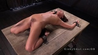 Petite-slave-got-pussy-whipped