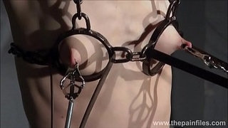 Electro-bdsm-and-feet-punishment-of-slave-Elise-Graves-in-dungeon-tit-torture-an