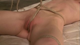 Tied-up-sub-gagged-and-suspended-by-her-master