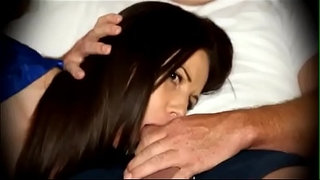 Mom-forced-to-blowjob-when-sleeping-on-couch