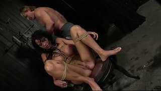 Under-total-domination.-Humiliated-bitch-mouth-fucked-and-screwed-painfully-in-her-all-holes.BDSM-movie.Hardcore-bondage-sex.