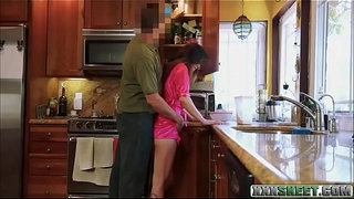 Small-tits-brunette-teen-Avery-Moon-drilled-by-her-stepdad