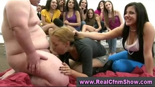 Fat-guy-gets-sucked-by-cfnm-babes