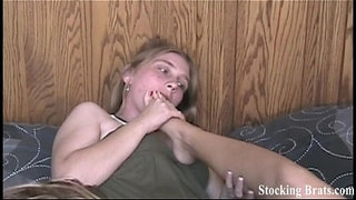 Fourway-lesbian-roommate-foot-fetish-orgy