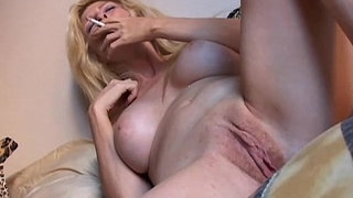 Super-sexy-old-spunker-has-a-smoke-and-plays-with-her-juicy-pussy