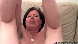 British-mom-Julie-with-her-big-tits-and-hairy-pussy-gets-finger-fucked