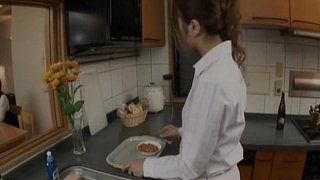 Japanese-teen-gets-fucked-in-the-kitchen-Uncensored