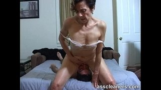 Horny-MILF-facesits-a-slave-for-ass-licking-and-cleaning
