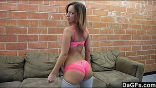 Girlfriend-Cumming-On-Her-Mom's-Couch