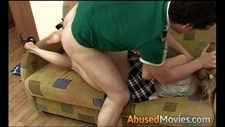 Hot-brunette-teen-abused-fuck-on-couch
