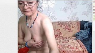 Granny-in-stocking-strips-teases-and-masturbates.-More-at-747cams.com
