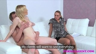FemaleAgent-Dramatic-casting-as-cheating-boyfriend-cant-resist-MILFs-advances