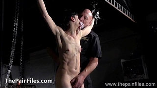 Breaking-Elise-Graves-in-hard-dungeon-tit-tortures-and-suspension-bondage-of-whi
