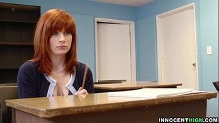 InnocentHigh---redhead-coed-with-hairy-pussy-Sadie-Kennedy-deepthroats-bigcock