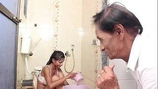 Hot-Baby-Bathing-and-sex-with-Father-in-law