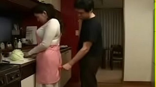 Hot-Japanese-Asian-Mom-fucks-her-Son-in-Kitchen