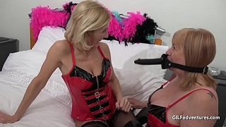 Mature-British-blondes-in-PVC-and-boots