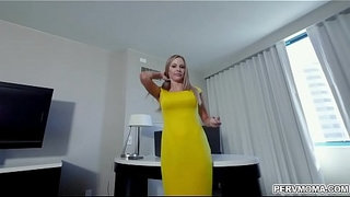 Gorgeous-MILF-Jenna-Jones-was-stressed-and-her-naughty-stepson-help-to-calm-her-by-fucking-her-mature-wet-pussy.