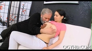 Young-playgirl-sucks-and-rides-old-cock